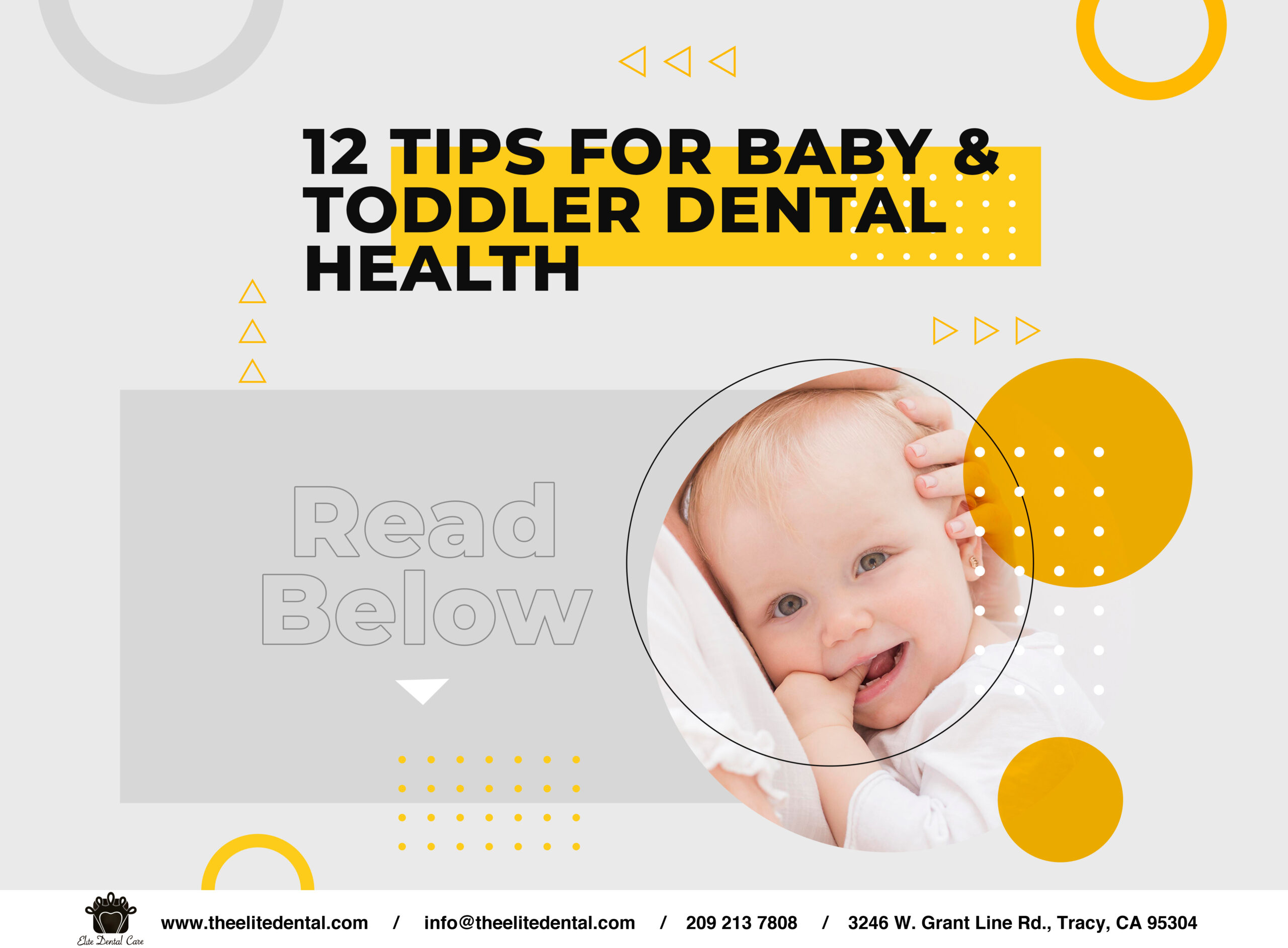 12 tips for baby and toddler dental health